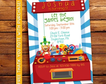 Arcade party invitation / Digital printable invitation