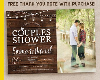Couples Shower Invitation / Rustic Couples Shower Invitation / Printable Couples Shower Invite