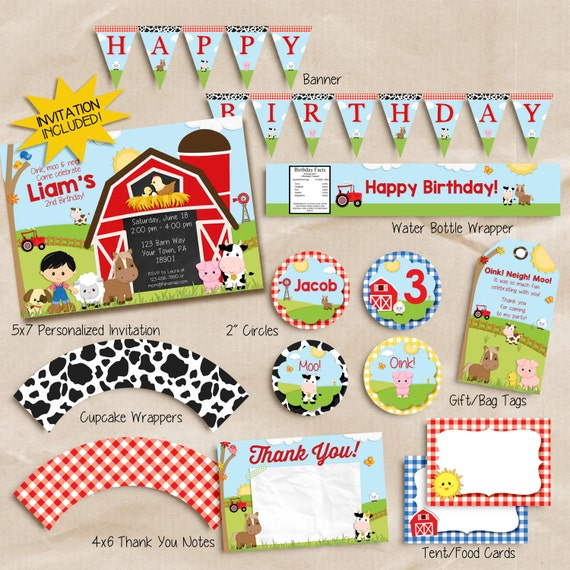 FARM BIRTHDAY Invitation Farm Birthday Party