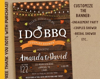 I do bbq invitation, I do bbq, fall I do bbq, Autumn I do bbq, I do printable invitation