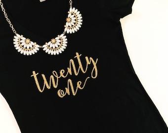 21 V Neck, Twenty one, Finally 21, Birthday Party shirt, 21st Birthday shirt, 21er, 21st Birthday tank, birthday tee