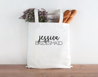 Bridesmaid Tote, Personalized Bridesmaid tote, Custom bridesmaid tote, Wedding party, wedding party gift, Bridesmaid gift