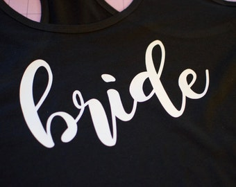 Bride tank. Bride Gift. Bridal Shower Gift. Bride Shirt. Bride T-shirt. V-neck Tshirt. Bride to be Gift