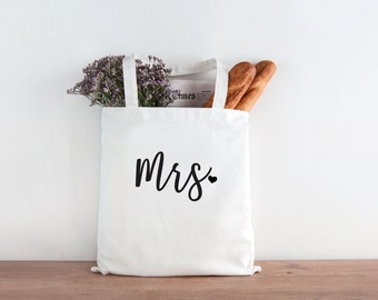 Mrs, wife tote, Bride Tote Bag, Bride, Wedding, Wedding tote, Bride gift, mrs tote, honeymoon gift, bride to be