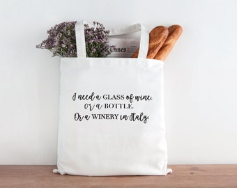 I need a glass of wine. Wine tote. Riesling, Wine, Wine tote, wine gift, Wine lovers, birthday gift, Christmas present, christmas gift