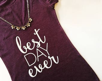 Best Day Ever Shirt, Bride Shirt, Bride T-shirt, Bride V-neck Shirt, V-neck Tshirt, Bride to be Gift, wedding shirt