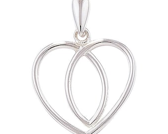 Silver Celtic Heart Necklace