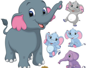 elephant clipart etsy rh etsy com elephant clip art black and white elephant clipart