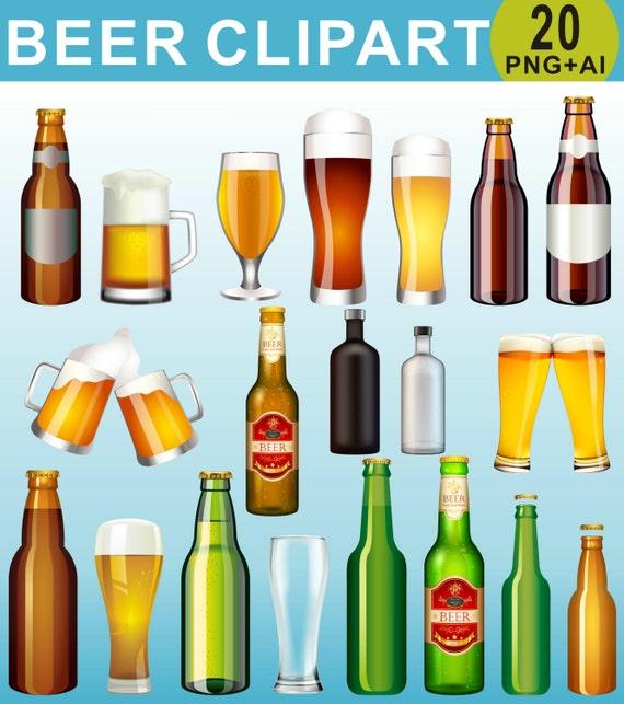 Bier Clipart Trinkt Clipart Clipart Bier Flasche Alkohol Etsy