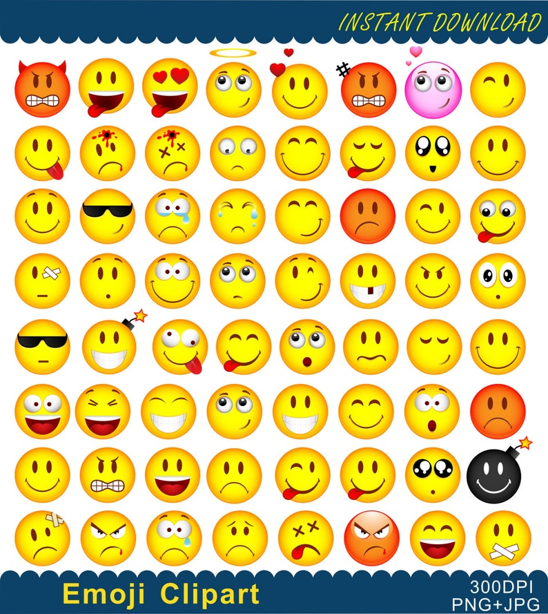 picture about Emoji Feelings Printable referred to as Emoji Clipart, Emoji Printable, Emoticons Collage Clip Artwork, Smiley Encounter Inner thoughts Clipart, Emotions Clipart, Electronic Artwork, PNG Data files