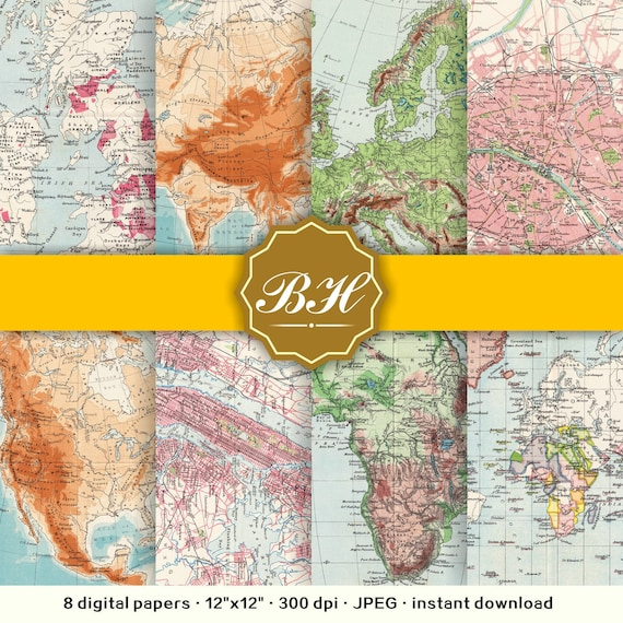 Vintage map digital paper pack old world maps backgrounds antique vintage map digital paper pack old world maps backgrounds antique map backgrounds nautical maps instant download from bhdigitalbox on etsy studio gumiabroncs Choice Image