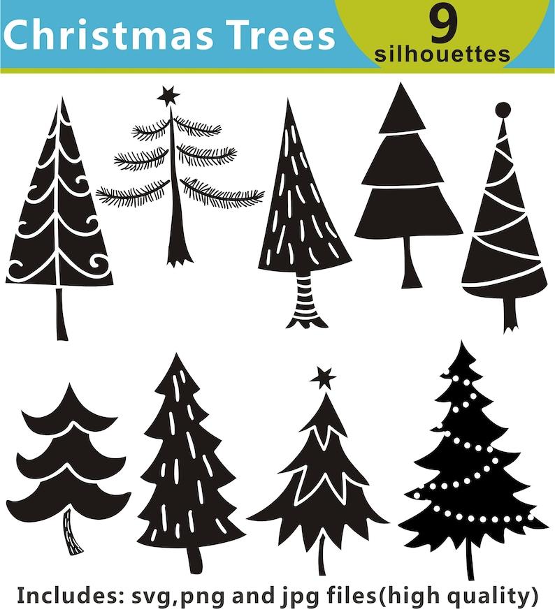 Weihnachtsbaum Clipart.Weihnachtsbaum Clipart Clipart Baum Baum Silhouetten Clipart Baum Svg Digitale Clipart Baum Druckbare Instant Download