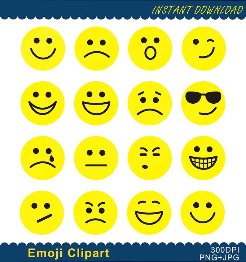 Imágenes Prediseñadas De Emoji Emoji Png Emoticonos Collage Etsy