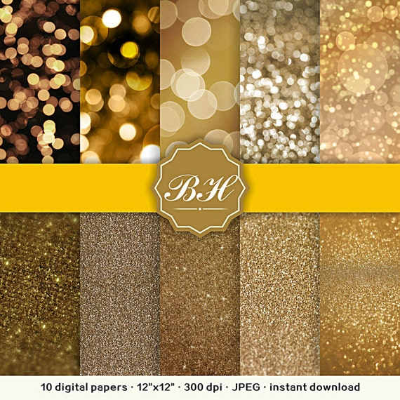 Bokeh Digital Paper Glitter Digital Paper Digital Background Etsy