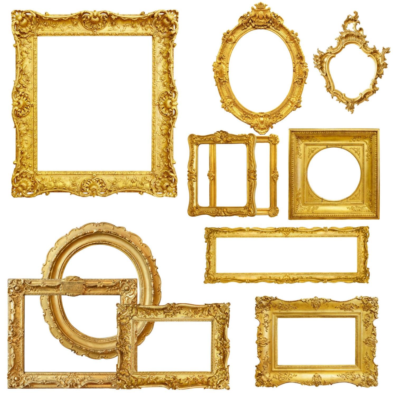 Gold Bild Rahmen Clipart digitale Bilderrahmen Rahmen | Etsy