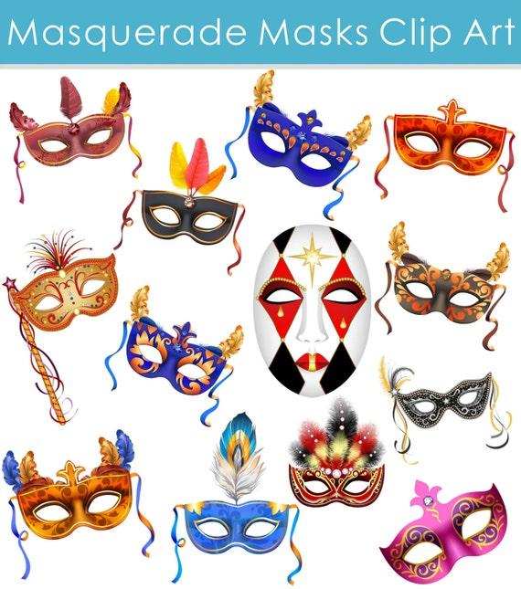 Maske Clipart Maskerade Clipart Clipart Karneval Maske Etsy