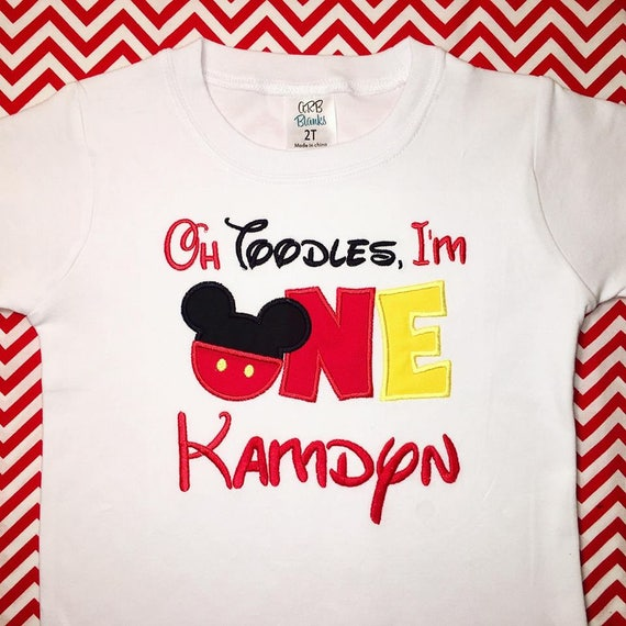 Oh Toodles Im One Mickey Mouse 1st Birthday Shirt