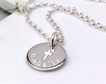 Personalized baptism gift, Christening gift, First communion gift, Gift for goddaughter, Confirmation gift, Sterling silver gift