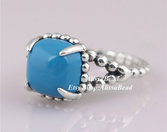 b54381376 2018 Autumn New Sterling Silver Vibrant Spirit Ring With Scuba Blue Crystal  Engagement Rings For Women Jewelry Finger Ring