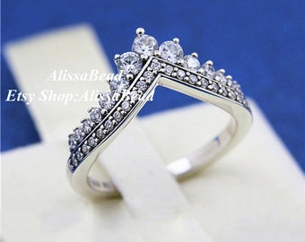 ab6fcdb41 2018 Autumn Release 925 Sterling Silver Princess Wish Rings With Clear CZ  Rings Women Fine Jewelry