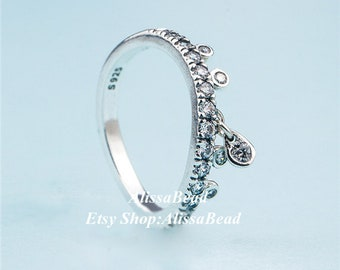 3916bf2e1 2018 Spring Release 925 Sterling Silver Chandelier Droplets Rings With  Clear CZ Rings Women Fine Jewelry