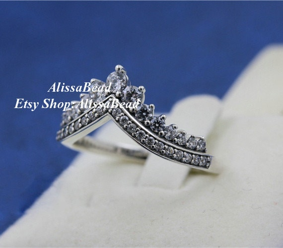 Woman Ring 2018 Autumn Sterling Silver Princess Wish Ring With Clear CZ Ring Woman Jewelry Size 50,52,54,56,58MM