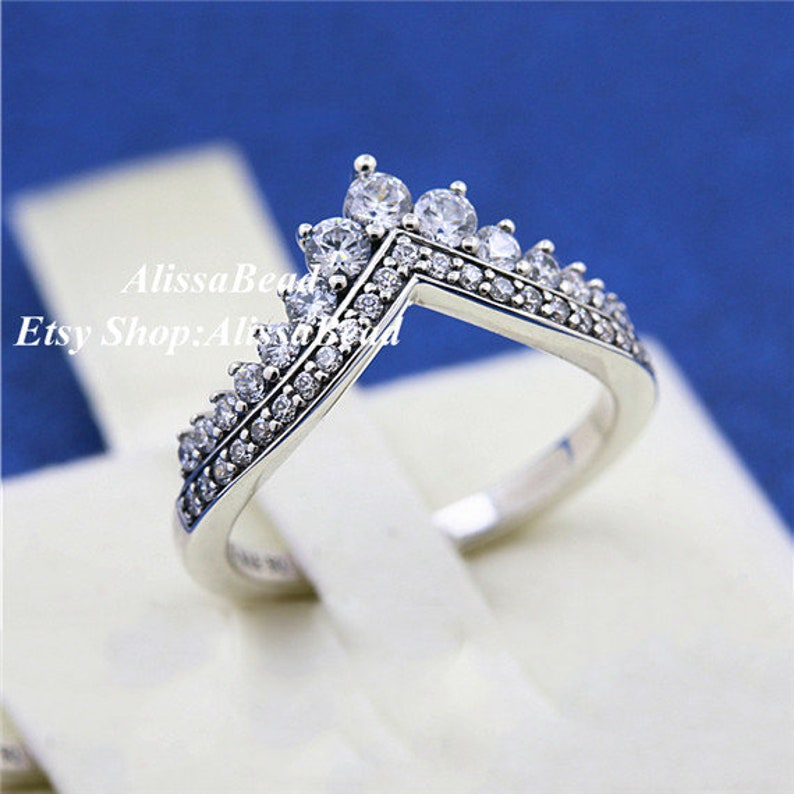 0beb9a171 2018 Autumn Release 925 Sterling Silver Princess Wish Rings | Etsy