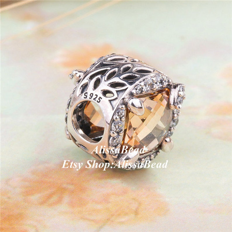 2018 Autumn Release Sterling Silver Vibrant Grain Square With Golden CZ Charm Bead Fits All European Women Jewelry Bracelets /& Necklaces