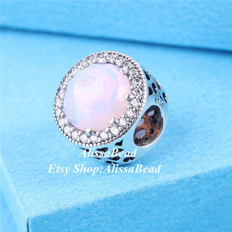 2016 Fall Release Sterling Silver Abstract openwork  Radiant Hearts with Pink Crystal /& Clear CZ Charm Bead Fits European DIY Bracelets