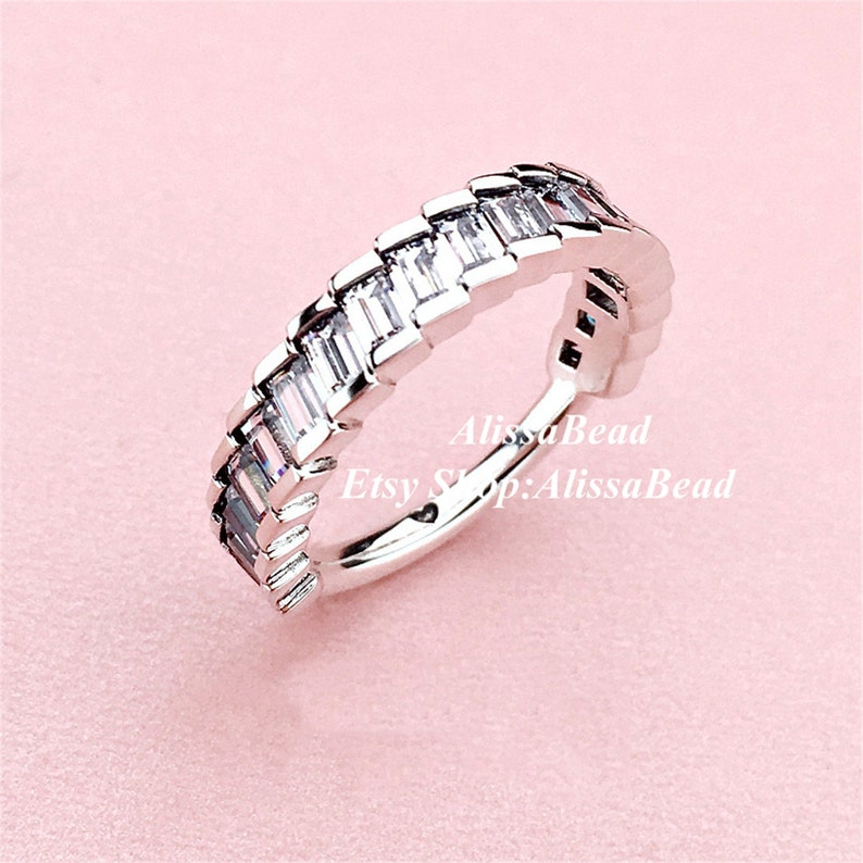 2018 Winter Release 925 Sterling Silver Glacial Beauty Ring With Clear CZ  Rings Women Fine Jewelry