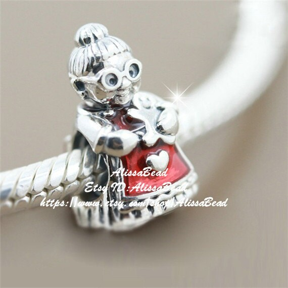"""New Auth 925 Sterling Silver Charm Bead fits Fashion Bracelets  /""""Santa Claus/"""""""