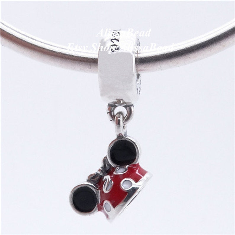 2017 Sping Release 925 sterling silver D Parks Minnie Ear Hat Dangle Charm Beads Fit European Jewelry DIY Bracelets Necklaces