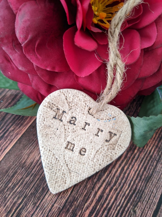 Handmade Loveheart Ring Will You Marry Me Engagement Proposal Valentine
