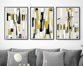 Large Abstract Prints Set Of 3