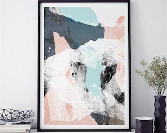 Abstract Wall Art, Minimalist Prints, Scandi Prints, Fine Art Prints, WOOD VALLEY, Giclee Prints, A3 Print, A2 Prints