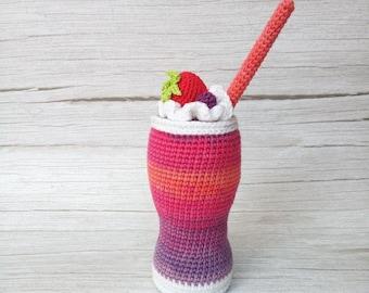 Milkshake PDF Pattern, amigurumi, crochet | Bolos de aniversário ... | 270x340