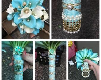 Custom Wedding Bridal Bouquet - Wedding Bouquet - Wedding Flowers - Bridal Bouquets - Wedding - Bouquet
