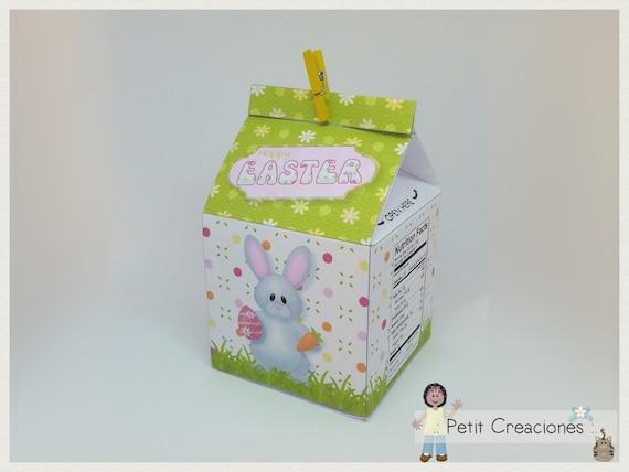1f182c2ca5cd PRINTABLE MILK Carton Happy Easter DIY gift idea