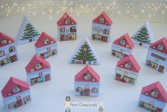 Printable Christmas Village Advent Calendar Christmas Craft Ideas Christmas Decoration Template Diy By Petitcreaciones Catch My Party