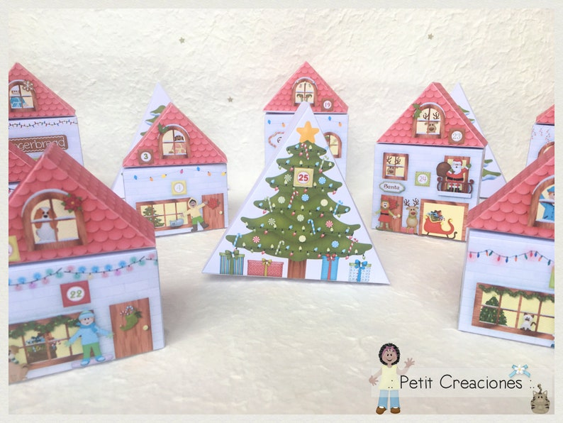 photo regarding Printable Christmas Village Template called Printable Xmas Village Introduction CALENDAR, Xmas craft Options, Xmas decoration, template Do-it-yourself