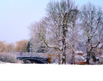 Newport Pagnell print - Newport Pagnell photo - Bridge print - Bridge photo - Snow print - Winter photography - Winter print - Fine Art