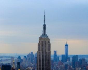 New York Print - Empire State Print - Manhattan Print - New York Photo - Skyline Print - NY Wall Art - Home Decor - New York Decor - NY Gift