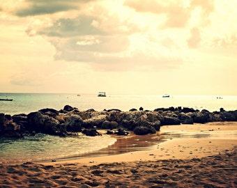 Barbados print - Beach print - Beach photo - Beach decor - Ocean print - Ocean decor - Sea print - Boat print - Sun print - Home Decor - Art