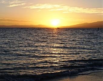 Fiji print - Fiji Photo - Sea print - Sunset print - Sunset photo - Beach print - Beach photo - Sand print - Ocean print - Fiji decor -Decor