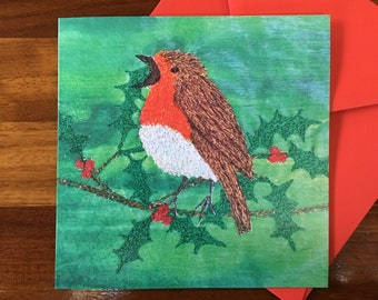 LIMITED EDITION Robin card ~ robin gifts - blank card ~ greetings card ~ Christmas card ~ nature lover ~ art card ~ bird card
