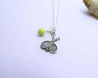 Womens Tennis racket necklace gifts for her ~ tennis lover Jewelry ~ sporting jewellery ~ hobby necklace ~ champion necklace ~ gift for mom