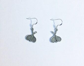 Tennis racquet earrings ~ Tennis earrings