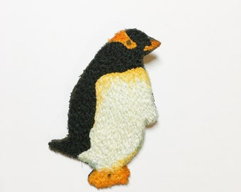 Embroidered Penguin brooch