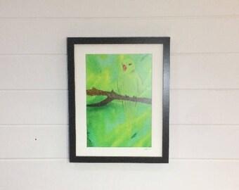 Parakeet Print A4