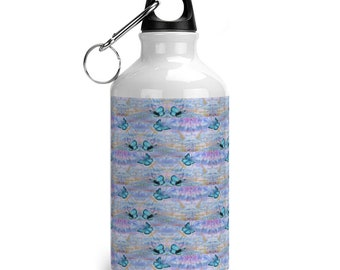 Reusable drinking bottle Butterfly print.